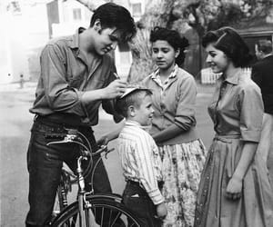 Elvis Presley, black and white, and autograph image