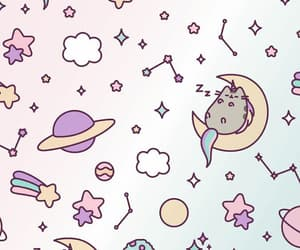 wallpaper, pusheen, and planet image