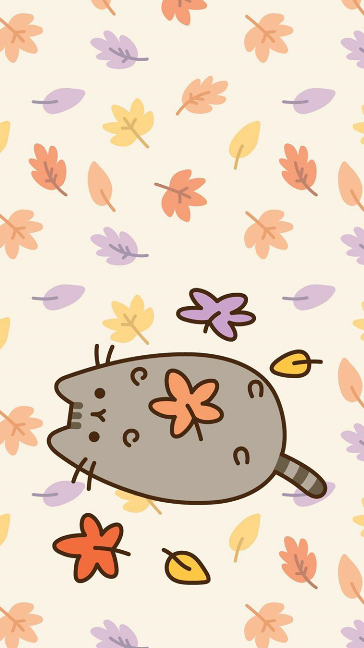 Pusheen cat wallpaper shared by