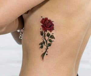 beautiful, flowers, and body art image