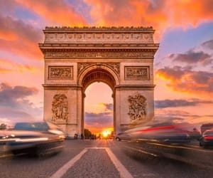 arc de triomphe, champs elysees, and Champs-Elysees image