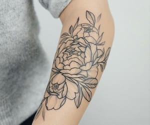 art., flowers, and ink image