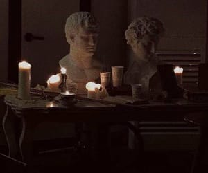 aesthetic, dark, and candle image