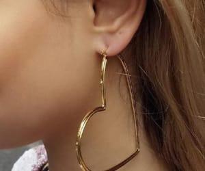 earrings, heart, and aesthetic image