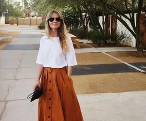 moda, saia, and midi skirt image