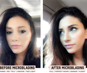 fashionlush, brow goals, and microblading image