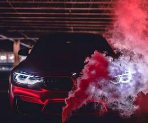 car, bmw, and smoke image