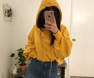 yellow, outfit, and aesthetic image
