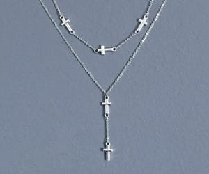 edgy, cross necklace, and metal necklace image