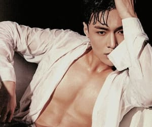 abs, eyes, and k-pop image