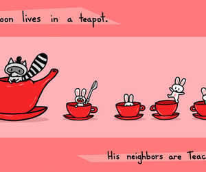 bunnys, tea, and rabbits image