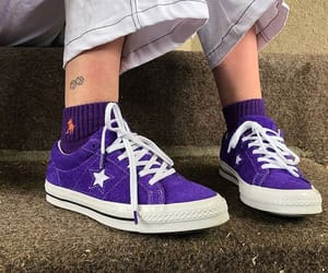 purple, shoes, and converse image