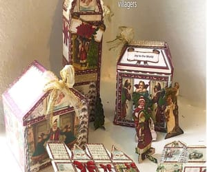 etsy, christmas village, and christmas houses image