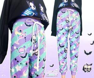 bats, creepy cute, and cute clothes image