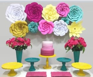 decoracion, flowers, and party image