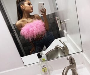 hair, thank u next, and outfit image