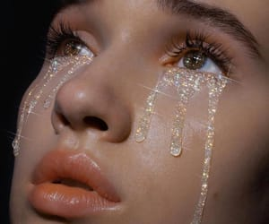 tears, aesthetic, and glitter image