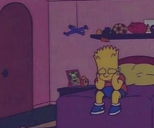 sad, bart, and simpsons image