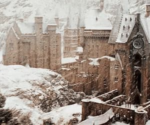 potter, snow, and gif image