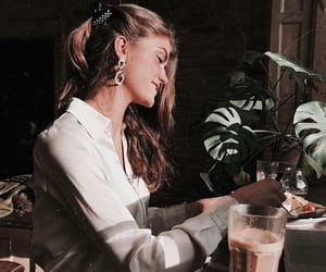 girl, plants, and accessories image