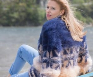 blue, clothes, and fuzzy image