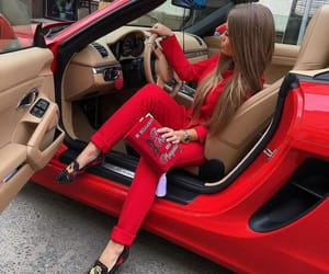 fashion, red, and car image