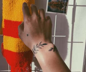 flowers, harry potter, and tattoo image