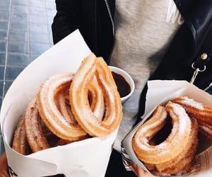 food, churros, and yummy image