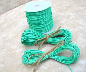 etsy, black string, and light turquoise image