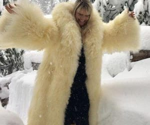 coat, fluffy, and furry image