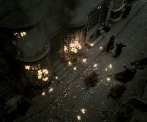 fire, harry potter, and magic image