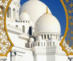 mosque, gold, and islam image