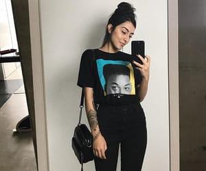 bag, hair, and look image