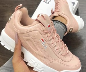 Fila, pink shoes, and shoes image