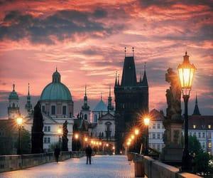 bridge, dreamy, and lanterns image