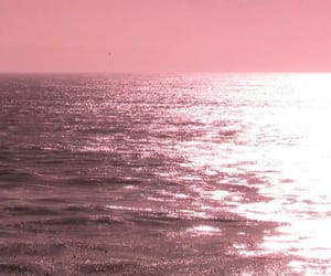 pink, ocean, and sea image