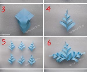 crafts, snowflakes, and step by step image