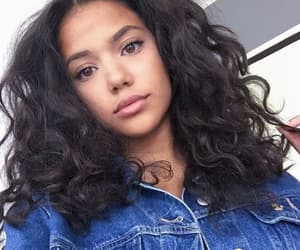 brownhair, curly, and girl image