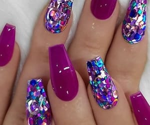 beautiful, nails, and glam nails image