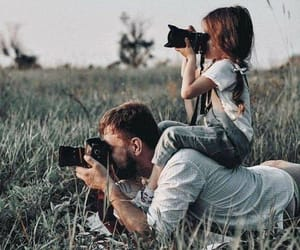 camera, daughter, and family image
