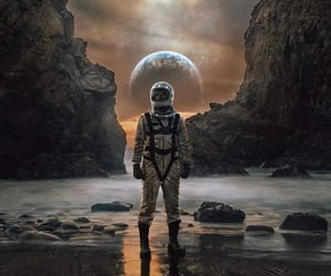 art, astronaut, and astronomy image