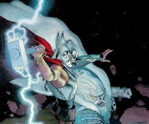 thor, jane foster, and Marvel image