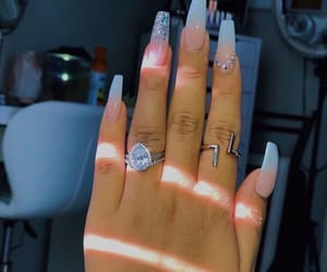 nails, beauty, and acrylic nails image