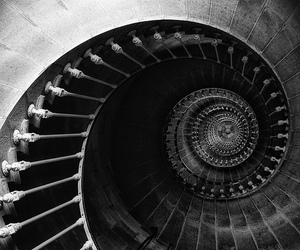 black&white and stairs image