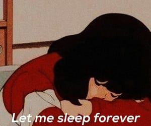 forever, girl, and sleep image