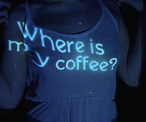 blue, girl, and coffee image