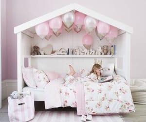 bed, bedroom, and bookshelf image