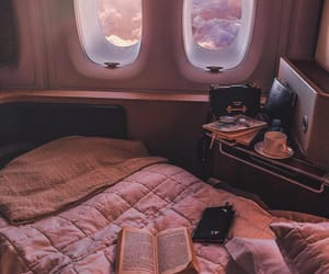 travel, airplane, and book image