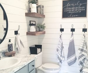 adorable, bathroom, and chalkboard image