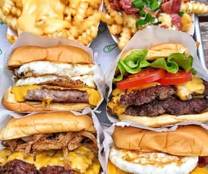 burger, food, and cheese image